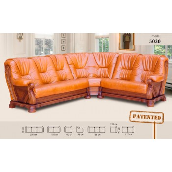 Угловой диван 5030 кожа