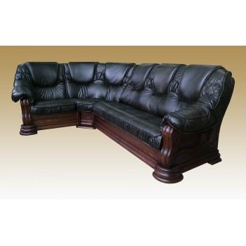 Угловой диван Grizzly кожа
