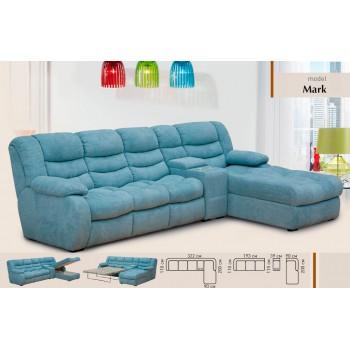 Угловой диван Mark2 ткань